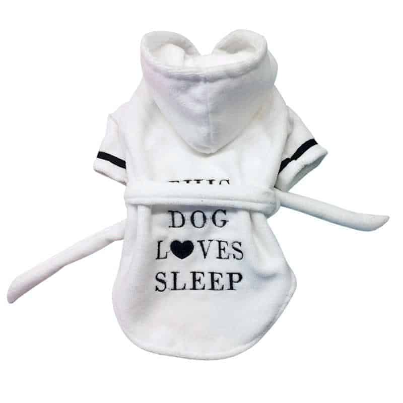 """This Dog Loves Sleep"" Luxury Bathrobe"